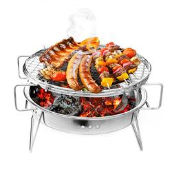 Portable Folding Barbecue BBQ Grill Stainless Steel