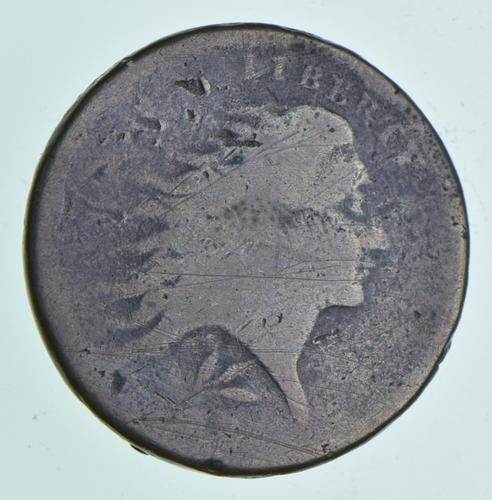 1793 Flowing Hair Large Cent - Wreath Reverse
