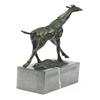 Tall Giraffe Animal Edition Bronze Sculpture