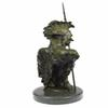 Bust of Native American Indian Chief Bronze Sculpture
