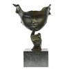 Abstract Girl Hush Up Bronze Sculpture
