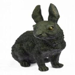 Rabbit Eastern Bunny Bronze Sculpture