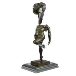 Art Deco Ballerina Dancer Bronze Sculpture