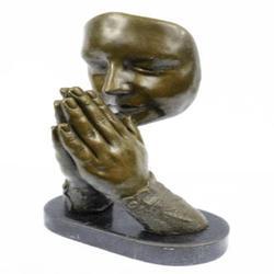 Amen Pray Bronze Sculpture on Marble Base Statue