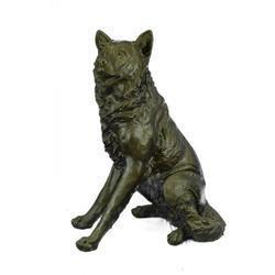 German Shepard Dog Garden Backyard Bronze Sculpture