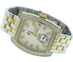 Michele Urban Mini Diamond 2 Tone Watch