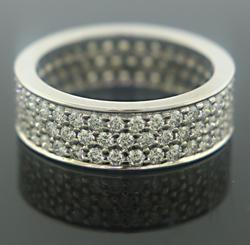 Modern Wide Diamond Band Ring