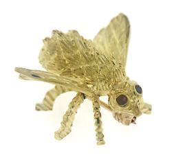 18kt Bee Pin with Ruby Eyes