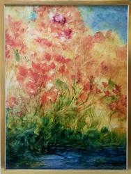 Beautiful LARGE Khavarani Giclee on Canvas