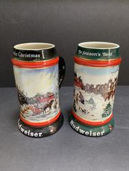 Beautiful Set  Budweiser Beer Mugs by Susan Sampson