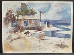 Beautiful Scenery Watercolor by Iranian Artist Soroush