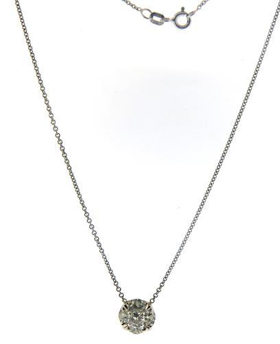 Gorgeous Diamond Cluster Pendant Necklace