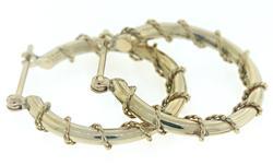 Simple Gold Twisted Hoop Earrings