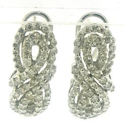 Beautiful Double Infinity Diamond Earrings