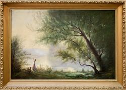 Frederick F Crane (1847-1915) Original Oil On Canvas