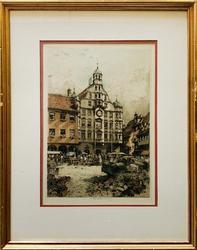 Luigi Kasimir Köln-Radierung Signed Lithograph