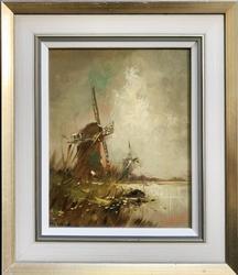 Landscape Original Oil on Board