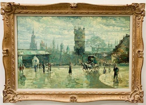 Robert Brown Original Oil On Canvas