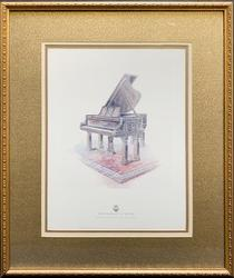 Steinway & Sons Grand Piano Lithograph On Paper