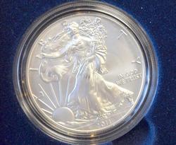 2011-W Burnished BU Silver Eagle, OGP