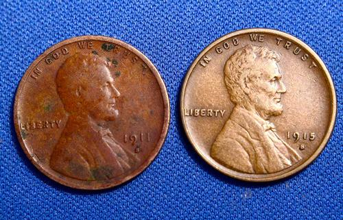 1911-S and 1915-S Wheat Cent Lot