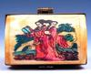 Crafted Bone Hand Overlay Hand Painted Trinket Box