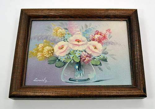 Still Life with Flowers, Original Painting on Board