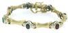 Elegant Multi Color Gemstone Link Bracelet