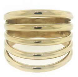 Simple Multi Row Gold Band Ring
