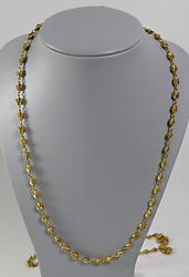 Luxurious 18kt Long Knot Chain Necklace