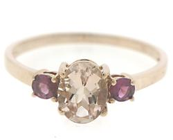 Morganite and Pink Tourmaline Ring