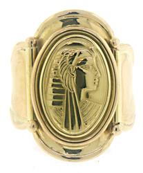 Egyptian Goddess Cigar Ring