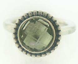 Pandora Retired Green Quartz Bloom Ring
