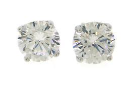 Sterling Silver CZ Stud Earrings