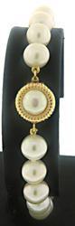 Fresh water Pearl Bracelet w Button Pearl Clasp