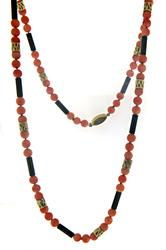 Vintage Coral and Onyx Necklace