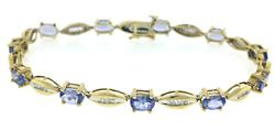 Exciting Tanzanite and Baguette Diamond Bracelet