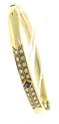 Fantastic Ruby and Diamond Bangle Bracelet