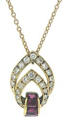 Stunning Diamond & Baguette Ruby Necklace