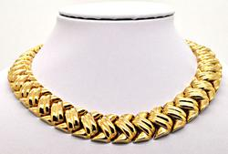 14KT ITALIAN GOLD NECKLACE AND BRACELET