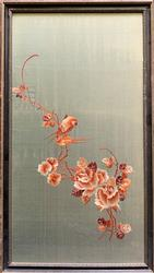 Beautiful Birds & Flowers Embroidery On Silk