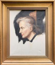 Original Oil On Canvas Woman Portrait