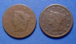 Large Cents, 1817 13 Star, 1843 Large Letter