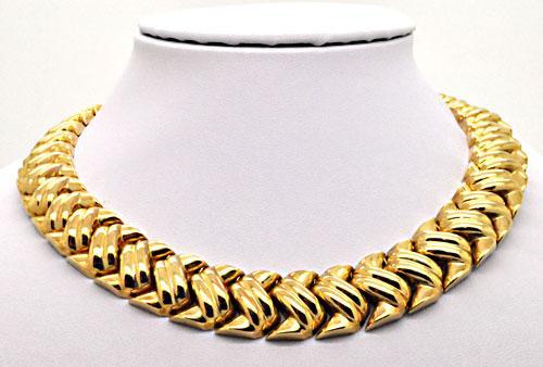 14KT ITALIAN GOLD NECKLACE AND BRACELET