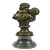 The Kiss Bronze Sculpture on Marble Base Figurine
