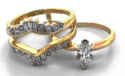 Flashy 0.60CTW Diamond Ring & Wrap in Gold