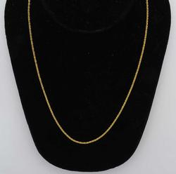 Interesting 14KT 18-Inch Stylized Rope Chain
