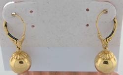 Fun & Funky Gold Bead Dangle Earrings