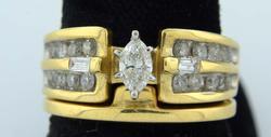 Gorgeous Diamond & 14KT Gold Wedding Set