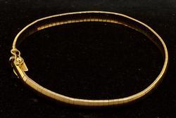 Sleek 14KT Gold 7.5-Inch Flat-Link Bracelet